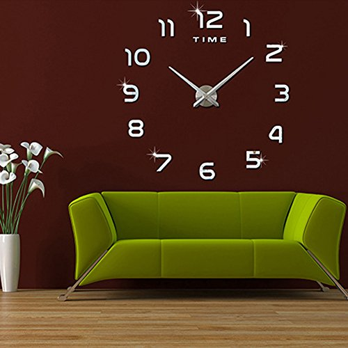 fas1 moderne diy gro e wanduhr big armbanduhr aufkleber 3d aufkleber spiegel effekt acryl. Black Bedroom Furniture Sets. Home Design Ideas