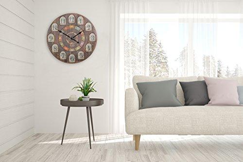 finebuy deko vintage wanduhr xxl 60 cm france holz bunt gro e uhr rustikal dekouhr rund. Black Bedroom Furniture Sets. Home Design Ideas
