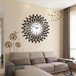 Flashing- Europäische Persönlichkeit Stumm Große Wanduhr Moderne Wohnzimmer Kreative Mode Einfache Dekorative Wanduhr ( Farbe : Schwarz , größe : 70cm ) - 1