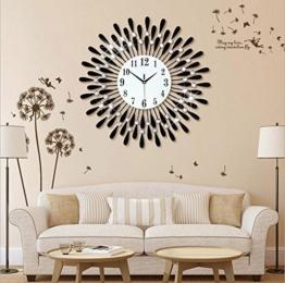 Flashing- Europäische Persönlichkeit stumm große Wanduhr modernes Wohnzimmer kreative Mode einfache dekorative Wanduhr ( Farbe : Schwarz , größe : 60 ) - 1