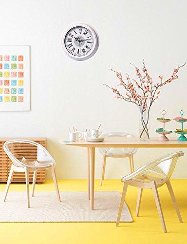 foxtop nostalgie nicht tickende wanduhr wei vintage dekorative k chenuhr kinderzimmeruhr 30 cm. Black Bedroom Furniture Sets. Home Design Ideas