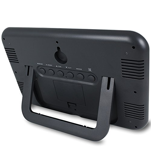 funkwanduhr mit gro er lcd anzeige und standfu tischuhr digitale wanduhr wei schwarz 3. Black Bedroom Furniture Sets. Home Design Ideas