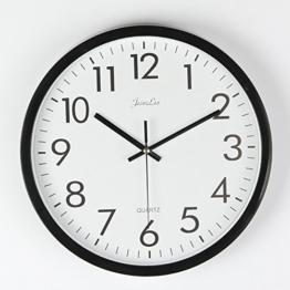 FunRun Wanduhr ohne Tickgeräusche, modern, geräuscharm, großes Ziffernblatt, Küchenuhr mit 25cm Durchmesser, 10 Zoll - 1