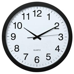 Hama PG-400 Jumbo Wanduhr XXL (analoge Quarz-Uhr mit schleichendem Uhrwerk, extra großes Ziffernblatt, 40cm Durchmesser, geräuscharm) schwarz - 1