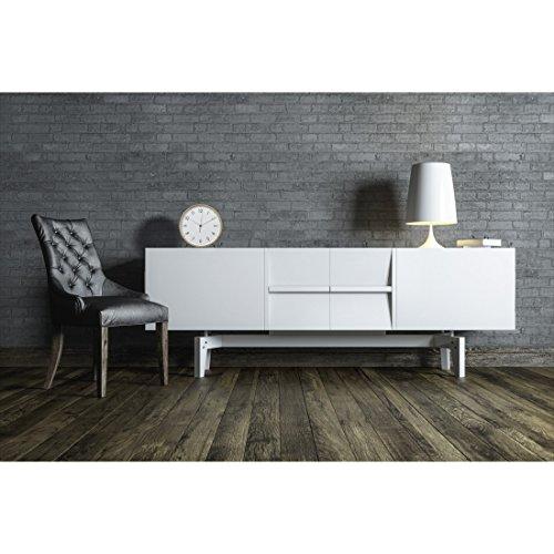 hama tischuhr wanduhr aus holz ger uscharme uhr ohne ticken 22 cm durchmesser standuhr wei. Black Bedroom Furniture Sets. Home Design Ideas