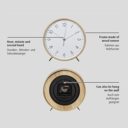 hama tischuhr wanduhr aus holz ger uscharme uhr ohne. Black Bedroom Furniture Sets. Home Design Ideas