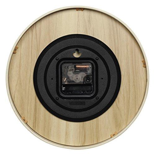 hama wanduhr hg 320 holz ger uscharme uhr ohne ticken. Black Bedroom Furniture Sets. Home Design Ideas