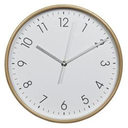 Hama Wanduhr HG-320 (Holz, Geräuscharme Uhr ohne Ticken, 32 cm Durchmesser) weiß/natur - 1