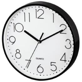 Hama Wanduhr ohne Ticken PG-220 (modern, geräuscharm, großes Ziffernblatt mit 22 cm, u.a. geeignet für Küche) schwarz - 1