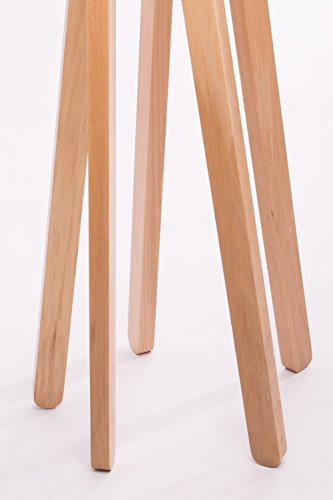 hochwertige design stehlampe tripod mit stoffschirm in grau und stativ gestell aus holz buche. Black Bedroom Furniture Sets. Home Design Ideas