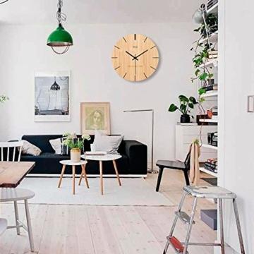 Kreative Minimalistische Mode Nordic Wanduhr Wohnzimmer Schlafzimmer Holz  Quarz Wanduhr Moderne Stumme Kunst Hängende Uhr,