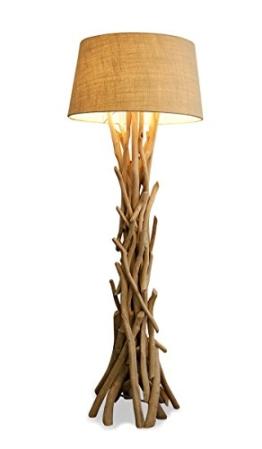 Lampe 97046 Stehlampe 155cm hoch Holz Holzlampe Unikat braun Treibholz Handarbeit Stehleuchte - 1