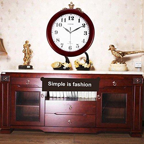 leshp funk wanduhr holz holzwanduhr 32cm deutschland dcf funkgesteuert wein rot 5 redidoplanet. Black Bedroom Furniture Sets. Home Design Ideas