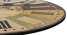 LOHAS Home 30cm Vintage Holz Wanduhr toskanischem Stil Land Römisch Design Frankreich Paris verrostete Metallblick (Altstadt) - 3