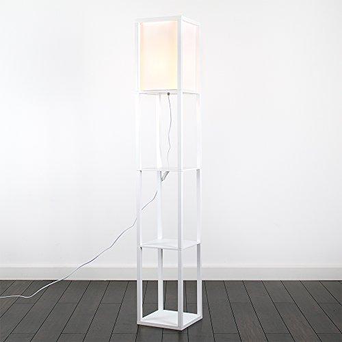 minisun moderne und wei e stehlampe aus holz und wei em. Black Bedroom Furniture Sets. Home Design Ideas