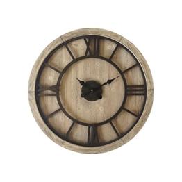 Mobili Rebecca® Wanduhr Groß Holz Metall Design Retro Rund Römische Zahlen Einrichtung Ø 70 cm (Cod. RE6009) - 1