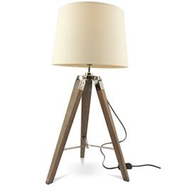 MOJO® Tischlampe Tripod Lampe Dreifuss Urban Cool Design Höhe ca. 65cm mq-l36 - 1