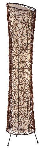 Nino Leuchten Stehleuchte Ruth / Höhe: 120 cm , Durchmesser: 25 cm / Rattan, innenliegender Stoffschirm / 2-flammig 40020243 - 1