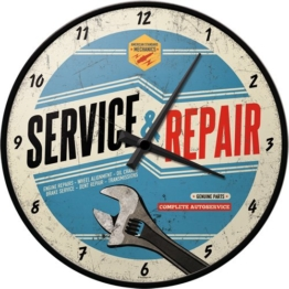 Nostalgic-Art 51062 Best Garage - Service & Repair, Wanduhr 31cm - 1