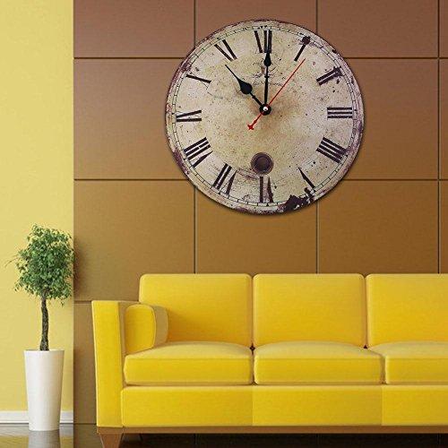 soledi wanduhr vintage r mische zahl verrostetes metall aussehen franz sisch land toskanischer. Black Bedroom Furniture Sets. Home Design Ideas