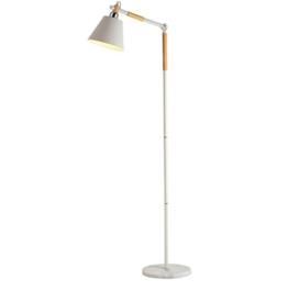 Stehlampe kreative einfache Wohnzimmer Schlafzimmer Studie Nordic Holz vertikale Stehleuchte ( Farbe : Weiß ) - 1