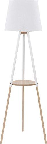 Stehlampe Lampe Stehleuchte Dreibein Leuchte Standleuchte groß 148 cm (Weiß) - 1