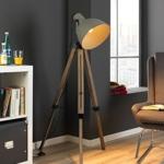 Dreibein Stehlampe Holz kaufen
