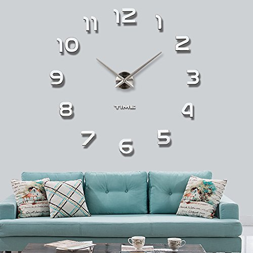 vangold moderne mute diy gro e wanduhr 3d aufkleber home. Black Bedroom Furniture Sets. Home Design Ideas