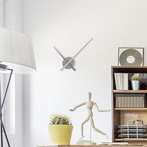 wandkings wanduhr solo xl mit uhrwerk extra gro en uhrzeigern farbe silber 2 redidoplanet. Black Bedroom Furniture Sets. Home Design Ideas
