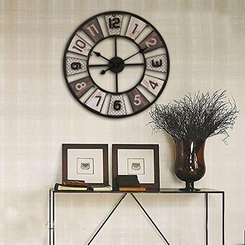 wanduhr gro vintage ct tribe 24zoll 60cm metall. Black Bedroom Furniture Sets. Home Design Ideas