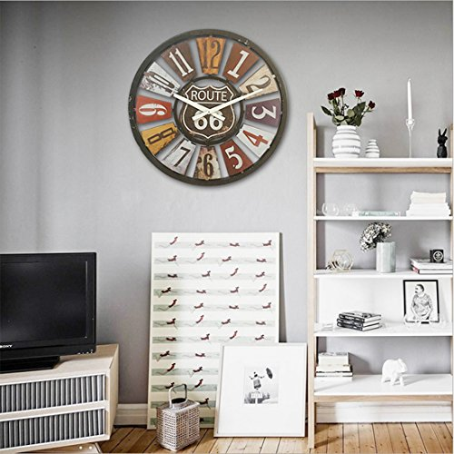 wanduhr gro xxl likeluk 15 zoll 40cm lautlos vintage. Black Bedroom Furniture Sets. Home Design Ideas
