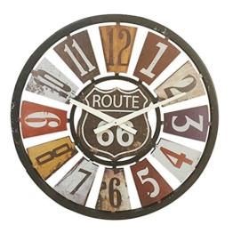 Wanduhr Groß xxl, Likeluk 15 Zoll(40cm) Lautlos Vintage Wanduhr Holz Uhr Ohne Ticken - 1