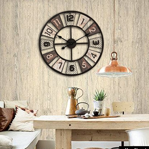 wanduhr xxl lautlos teckpeak gro e wohnzimmer wanduhr xxl wanduhr gro vintage 60 cm 7. Black Bedroom Furniture Sets. Home Design Ideas