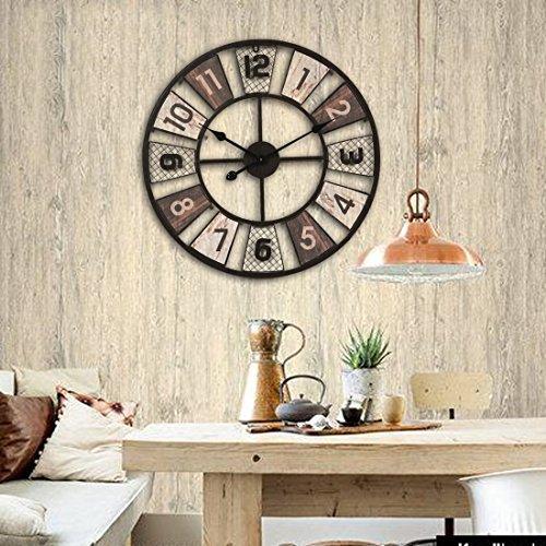 wanduhr xxl lautlos teckpeak gro e wohnzimmer wanduhr xxl wanduhr gro vintage 60 cm 7. Black Bedroom Furniture Sets. Home Design Ideas