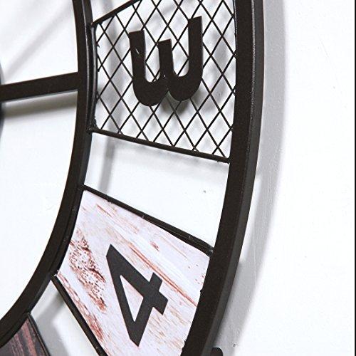 wanduhr xxl lautlos teckpeak gro e wohnzimmer wanduhr xxl wanduhr gro vintage 60 cm 8. Black Bedroom Furniture Sets. Home Design Ideas