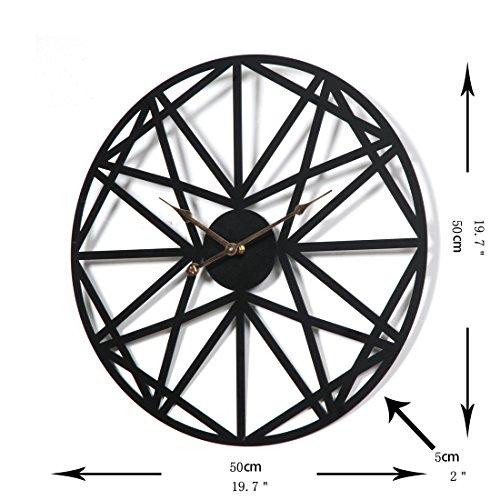 wanduhr xxl schwarz teckpeak wanduhr xxl lautlos wanduhr. Black Bedroom Furniture Sets. Home Design Ideas