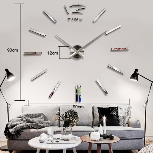 yesurprise wanduhr riesige spiegel wanduhr vinyl diy. Black Bedroom Furniture Sets. Home Design Ideas