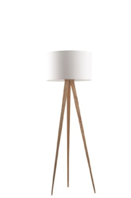 Zuiver 5000806 Floor Lamp Tripod, holz, weiß - 1