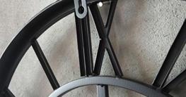 ZWL Retro Wanduhr, Uhr Große Wanduhr Übergroße römische Ziffern Eisen Wohnzimmer Studio Kreative Wand Oberfläche Metall Pure Schwarz D: 50cm fashion ( Farbe : A ) - 4