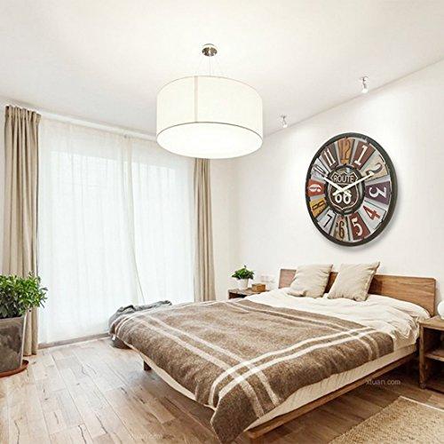 40cm gro vintage holz wanduhr bljrgs retro uhr wanduhr wanduhren lautlos for b ro wohnzimmer. Black Bedroom Furniture Sets. Home Design Ideas