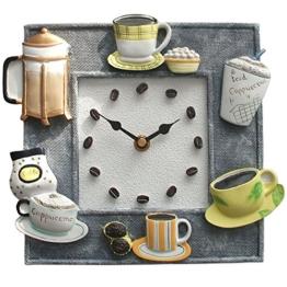 Atlanta Wanduhr design Küchenuhr Kaffeezeit Quarz Steingutgehäuse Deko Wanddeko - 1