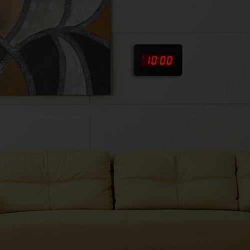 chaorong digital led wecker wanduhr f r schlafzimmer nur mit batterie betrieben schwarze 7. Black Bedroom Furniture Sets. Home Design Ideas