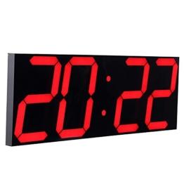 CHKOSDA Fernbedienung Steuern Jumbo digital LED Wanduhr, Multifunktion LED Uhr, Groß Kalender, Minute Alarm Uhr, Countdown LED Uhr, Groß Thermometer, still Uhr (Rot) - 1