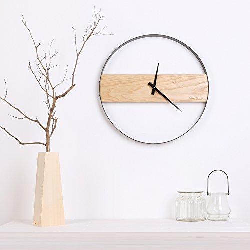 ein holz holz wanduhr yu extrem ruhig simple wohnzimmer innotime nordischen metall rund 16. Black Bedroom Furniture Sets. Home Design Ideas