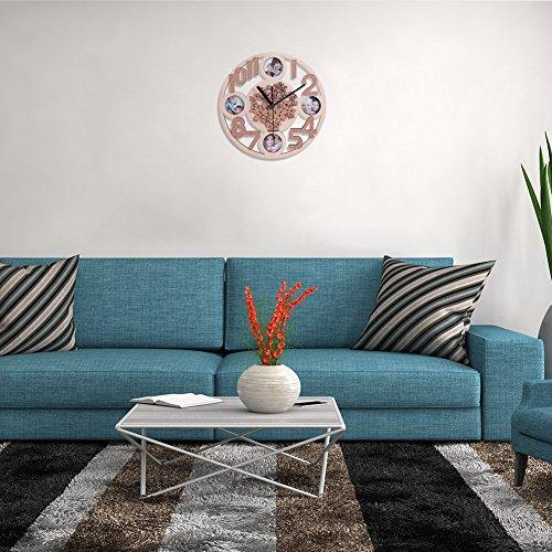 giftgarden uhr wand fotorahmen bilderrahmen holz blumen familie wanduhr deko whonzimmer. Black Bedroom Furniture Sets. Home Design Ideas