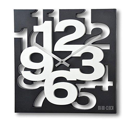 gmmh 3 d moderne design wanduhr 1106 k chenuhr baduhr b rouhr dekoration ruhig schwarz wei. Black Bedroom Furniture Sets. Home Design Ideas