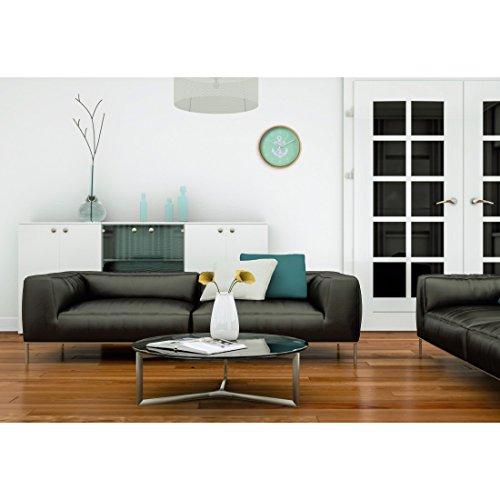 hama wanduhr ger uscharme uhr ohne ticken holzrahmen ankerdesign 26 cm mint 3 redidoplanet. Black Bedroom Furniture Sets. Home Design Ideas