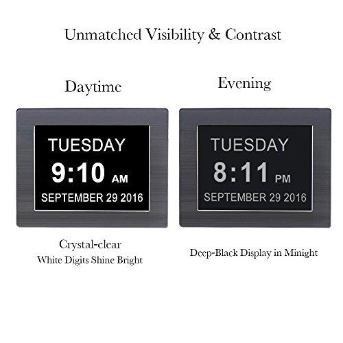iprotect digitale wanduhr 8 display mit extra gro er. Black Bedroom Furniture Sets. Home Design Ideas