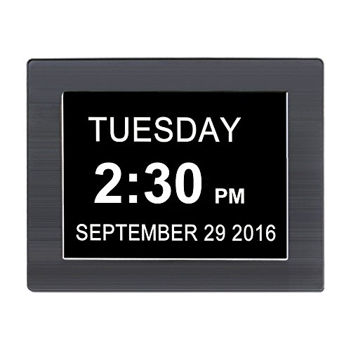 iprotect digitale wanduhr 8 display mit extra gro er schrift datumsanzeige. Black Bedroom Furniture Sets. Home Design Ideas