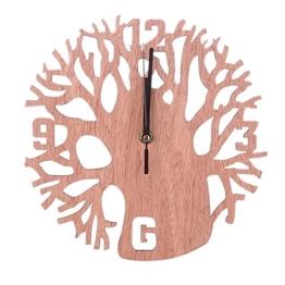 Little Finger Creative rund Baum Zahlen Holz Wanduhr Wohnzimmer Schlafzimmer Home Wand-Decor - 1